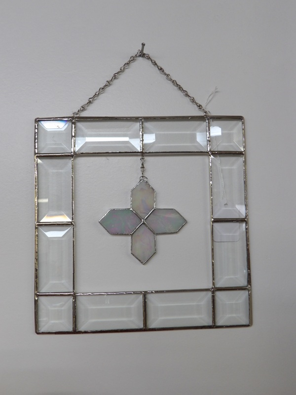 Cross in Square - Stain Glass Art
