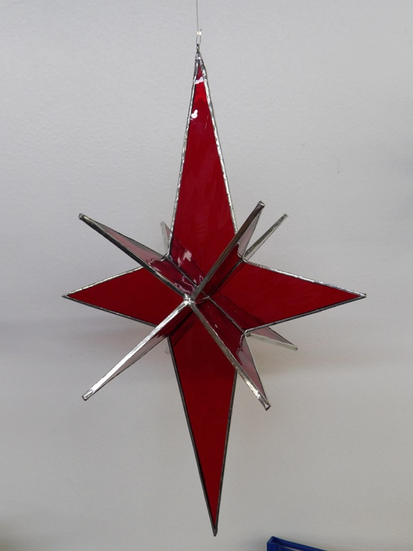 3D Star Various Colors - Stain Glass Art