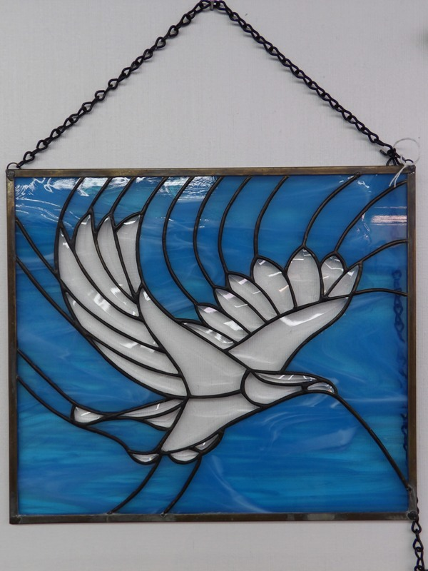 Eagle in Blue - Stain Glass Art