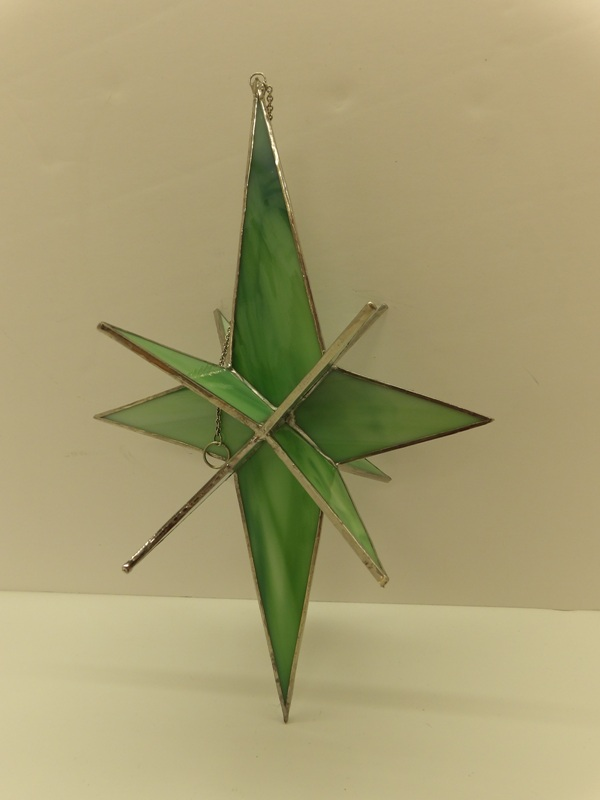 3D Star Green - Stain Glass Art