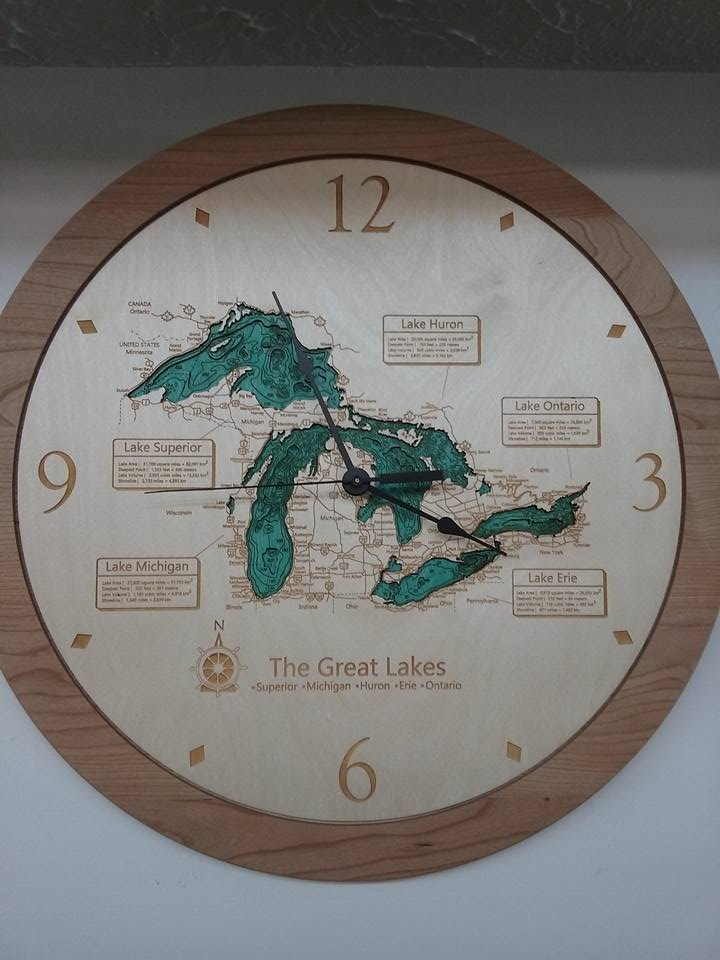 Lake Art Clock