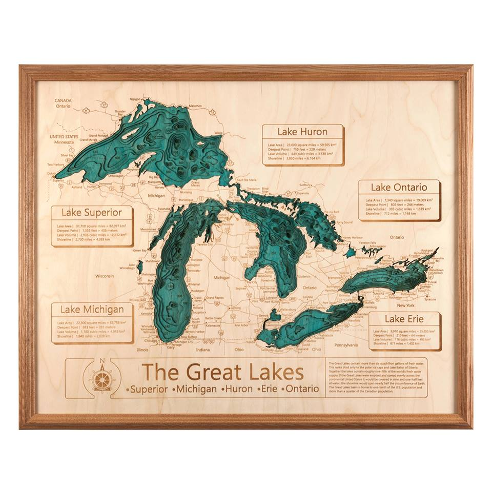 Great Lakes Lake Depth 16""