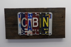 Cabin License Plate Art - Recycled Highway