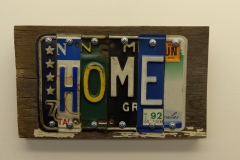 Home License Plate Art - Recycled Highway