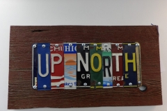 Up North License Plate Art - Recycled Highway