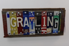 Grayling License Plate Art - Recycled Highway