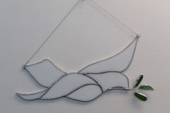 Dove with Olive Branch - Stain Glass Art