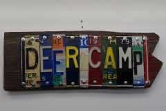 Deer Camp License Plate Art - Recycled Highway