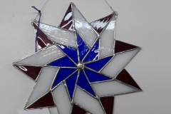 Red, White and Blue Pinwheel - Stain Glass Art