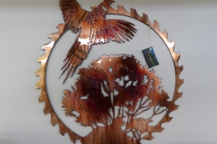 Sawblade with Pheasant - JB Metalworx