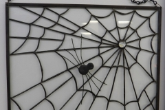 Spider in Web - Stain Glass Art