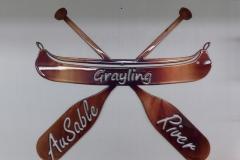 Custom Ausable River Canoe with Paddles - JB Metalworx
