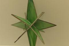 3D Star Green - Stain Glass Art