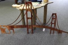Large Custom Mackinac Bridge Wall Hanging - JB Metalworx