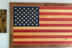 Handmade US Flag - Tongue and Groove Made in Mio