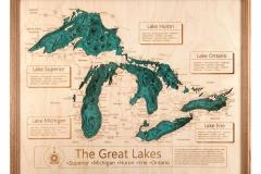 "Great Lakes Lake Depth 16"""