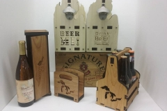 Beer holder and wine gift box