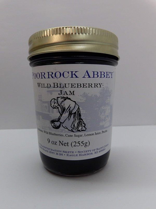 Wild Blueberry Jam - Poor Rock Abbey Jams and Jellies