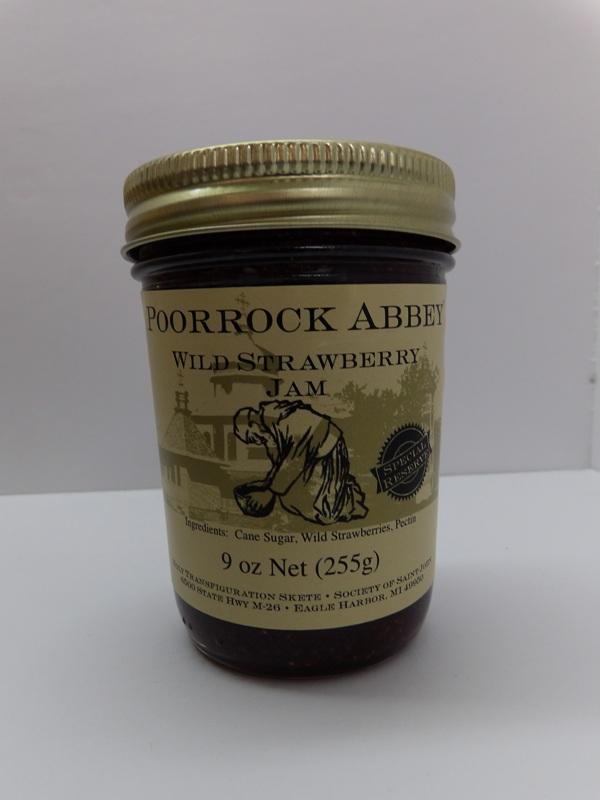 Wild Strawberry Jam - Poor Rock Abbey Jams and Jellies
