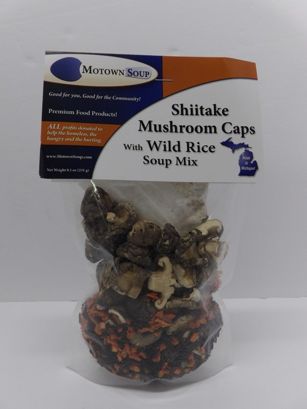 Shittake Mushrooms with Wild Rice - Motown Soups