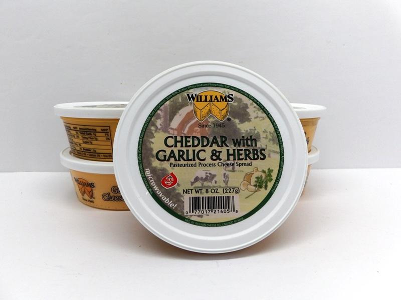 Cheddar with Garlic Herb Cheese Spread