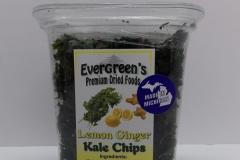 Lemon Ginger Kale Chips - Evergreen's