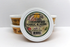 Cheddar with Garlic Herb Cheese Spread