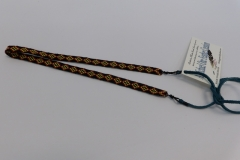 Beaded Necklace on Leather