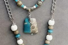 Leland Blue/Petoskey Stone necklaces