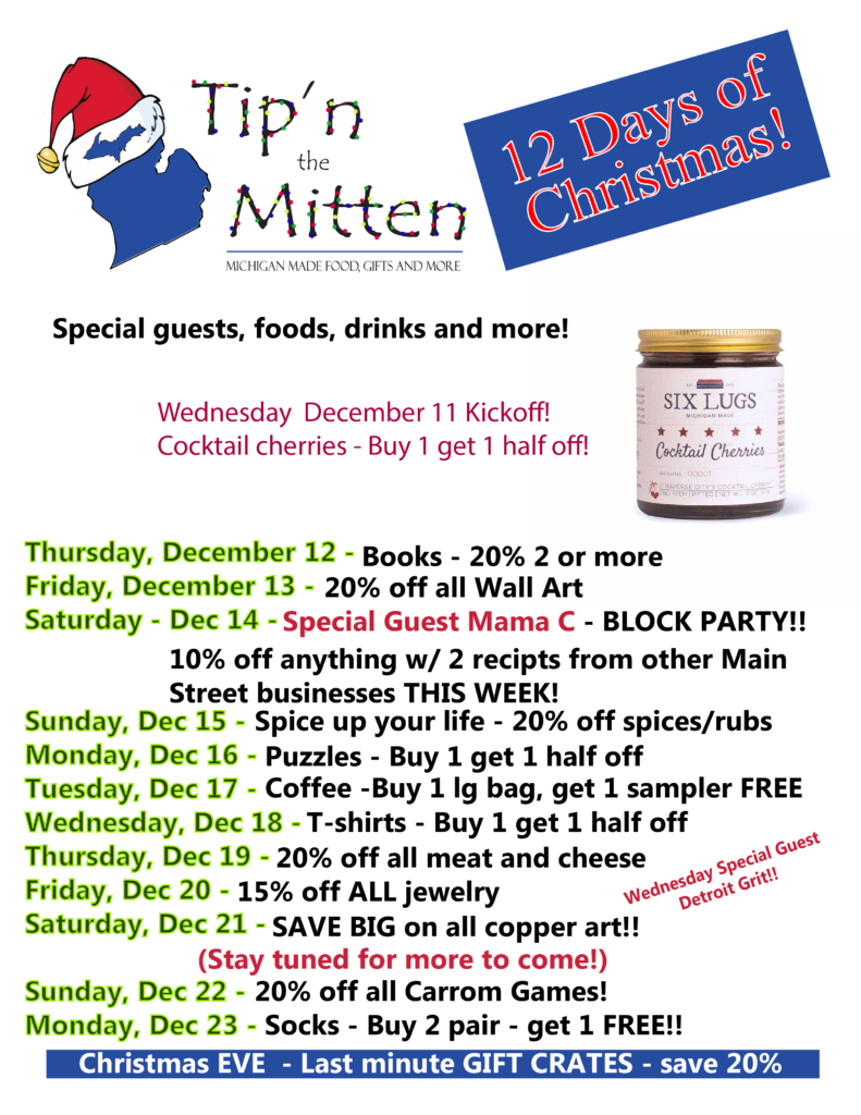 12 days of christmas at tipn the mitten