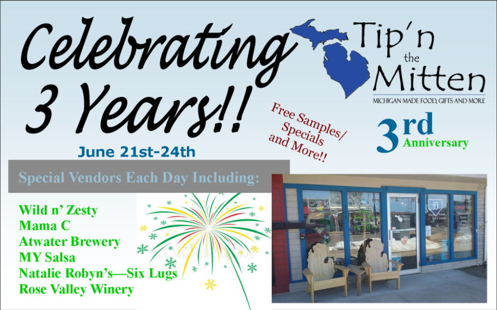 Celebrate 3 Years with Tip'n the Mitten!!!