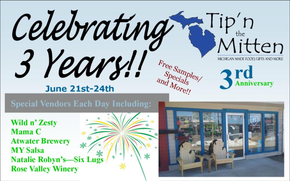 Tip'n the Mitten 3rd anniversary