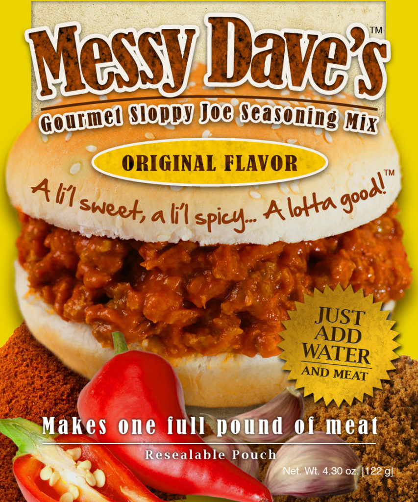 Messy Dave's Michigan Made Gourmet Sloppy Joe Mix at Tip'n the Mitten